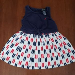 Nautica Red White & Blue Dress w/ Front Tie